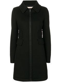 расклешенное пальто на молнии  Herno