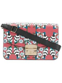 сумка на плечо с принтом птиц Furla