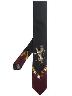 галстук с принтом дикой кошки Dolce & Gabbana