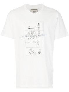 футболка с мультипликационным принтом Maison Mihara Yasuhiro