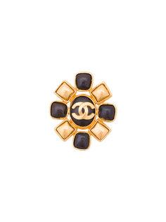брошь с логотипом Chanel Vintage