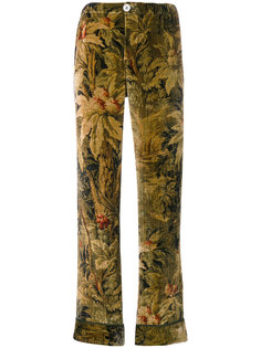 antique floral print trousers F.R.S For Restless Sleepers