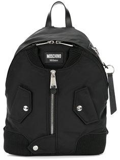 большой рюкзак с молнией спереди Moschino