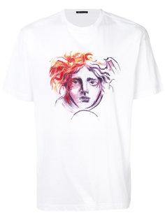 футболка с логотипом и карандашным наброском головы Медузы Versace