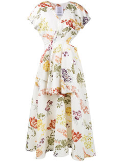 платье с вырезом и цветочным принтом  Rosie Assoulin