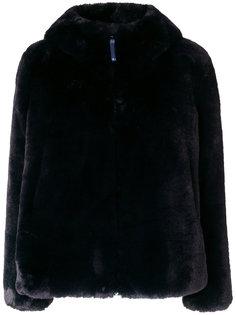 пальто с меховой отделкой  Dondup