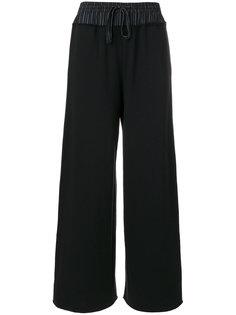 брюки клеш со шнурком  Mm6 Maison Margiela