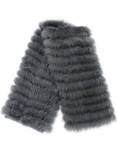 короткий шарф с меховой деталью Agnona