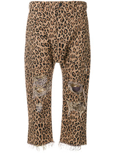 leopard printed cropped trousers R13