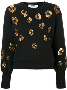 свитер с декоративными нашивками MSGM