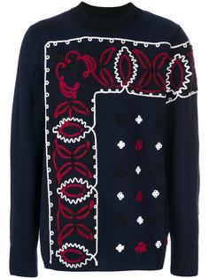 свитер с аппликацией узора пейсли Sacai
