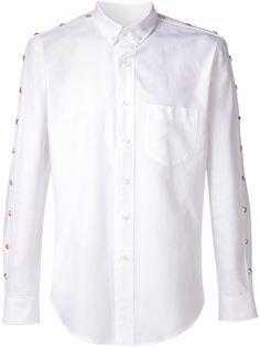 рубашка с пуговицами на рукавах Palm Angels