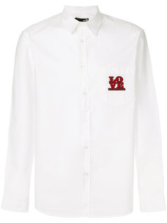 embroidered logo shirt Love Moschino