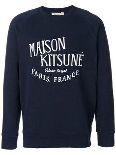 толстовка с принтом-логотипом Maison Kitsuné