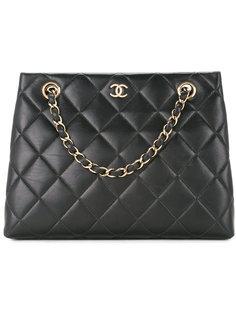 маленькая сумка-тоут с цепочкой CC Chanel Vintage