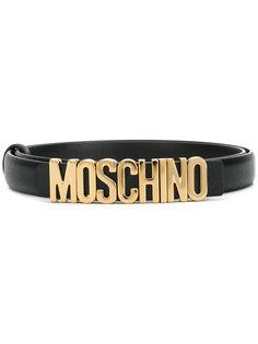 ремень с бляшкой с логотипом Moschino