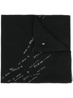 шарф с принтом надписей Saint Laurent