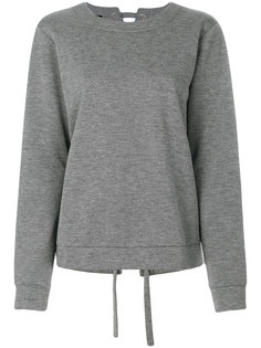 lace-up back sweatshirt Designers Remix