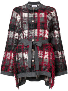 checked cardigan Barrie