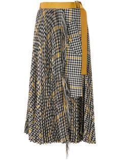 асимметричная юбка с поясом  Sacai