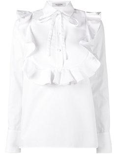 рубашка в стиле смокинга с оборкой  Valentino