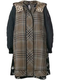 куртка с капюшоном и вставками  Antonio Marras