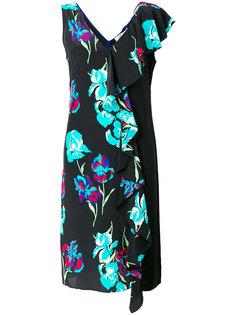 платье с бахромой и цветочным принтом  Diane Von Furstenberg