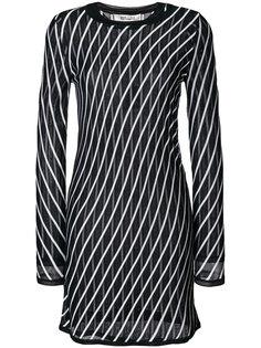 приталенное платье с вышивкой  Diane Von Furstenberg