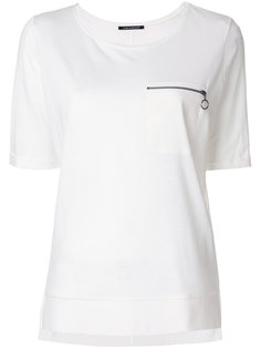 zip pocket T-shirt Luisa Cerano