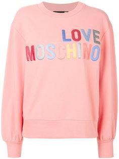 джемпер с аппликацией  Love Moschino