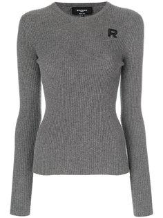 свитер в рубчик с круглым вырезом  Rochas