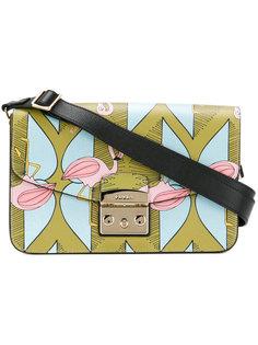 сумка на плечо с принтом фламинго Furla