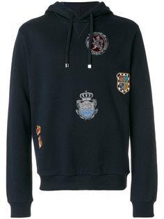 толстовка с капюшоном с заплаткой с гербом Dolce & Gabbana