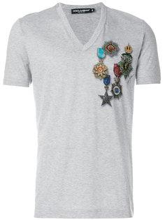 футболка с принтом медалей Dolce & Gabbana