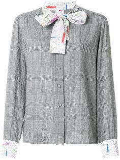 блузка с контрастной завязкой  Ultràchic
