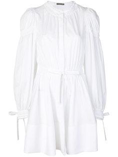 платье с присборенными рукавами  Alexander McQueen