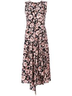 платье миди с цветочным принтом  Kenzo