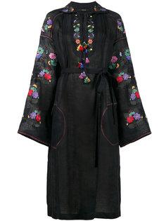 полупрозрачное платье с цветочной вышивкой  Vita Kin