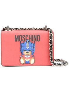 сумка через плечо с медведем-трансформером Moschino