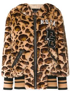 леопардовая куртка с капюшоном Dolce & Gabbana