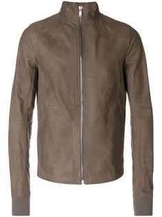 байкерская куртка с воротником-воронкой Rick Owens