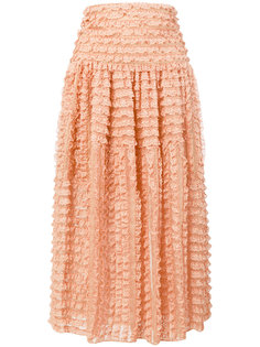 кружевная юбка миди Chloé