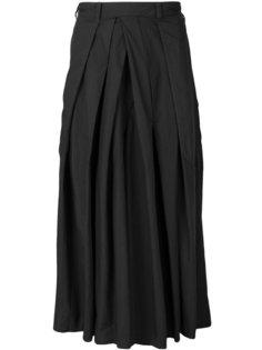 расклешенные широкие брюки  Yohji Yamamoto
