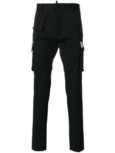 брюки-карго строгого кроя Dsquared2