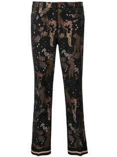 укороченные брюки с принтом  Cambio