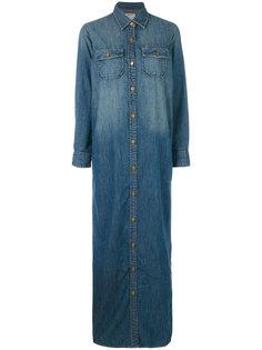 длинное платье-рубашка Current/Elliott