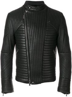 стеганая байкерская куртка Emporio Armani