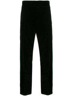бархатные спортивные брюки с полосками Palm Angels