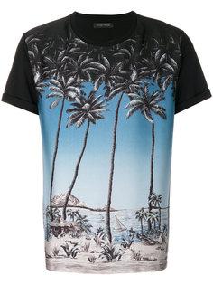 футболка с пальмами Christian Pellizzari