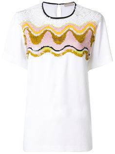 футболка с вышивкой из пайеток Emilio Pucci